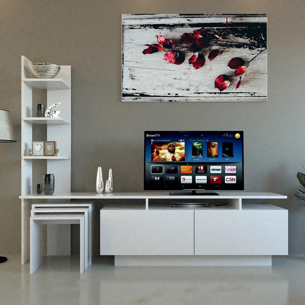 طاولة تلفاز مع 3 طاولات خدمة 128