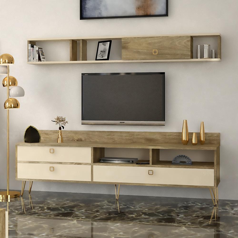 طاولة تلفزيون بيج مع خشبي 155