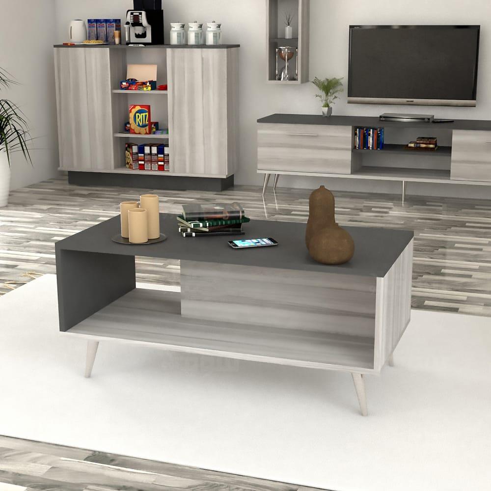 طقم طاولات عصري لون أبيض مع رمادي 221