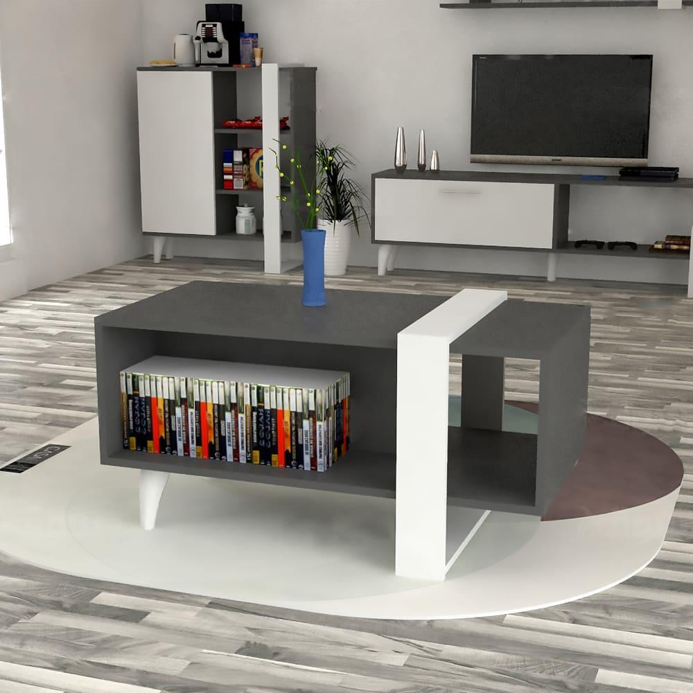 طاولة وسط لون أبيض مع رمادي 426