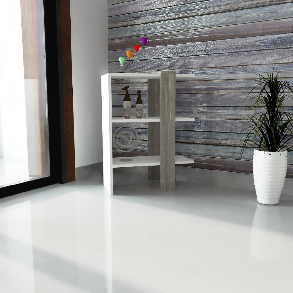 طقم طاولات لون أبيض مع رمادي 232