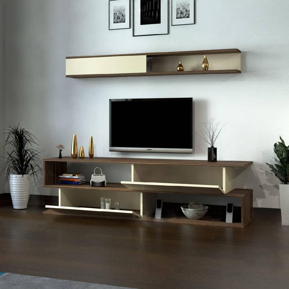 طاولة تلفاز سعودي لونين 186