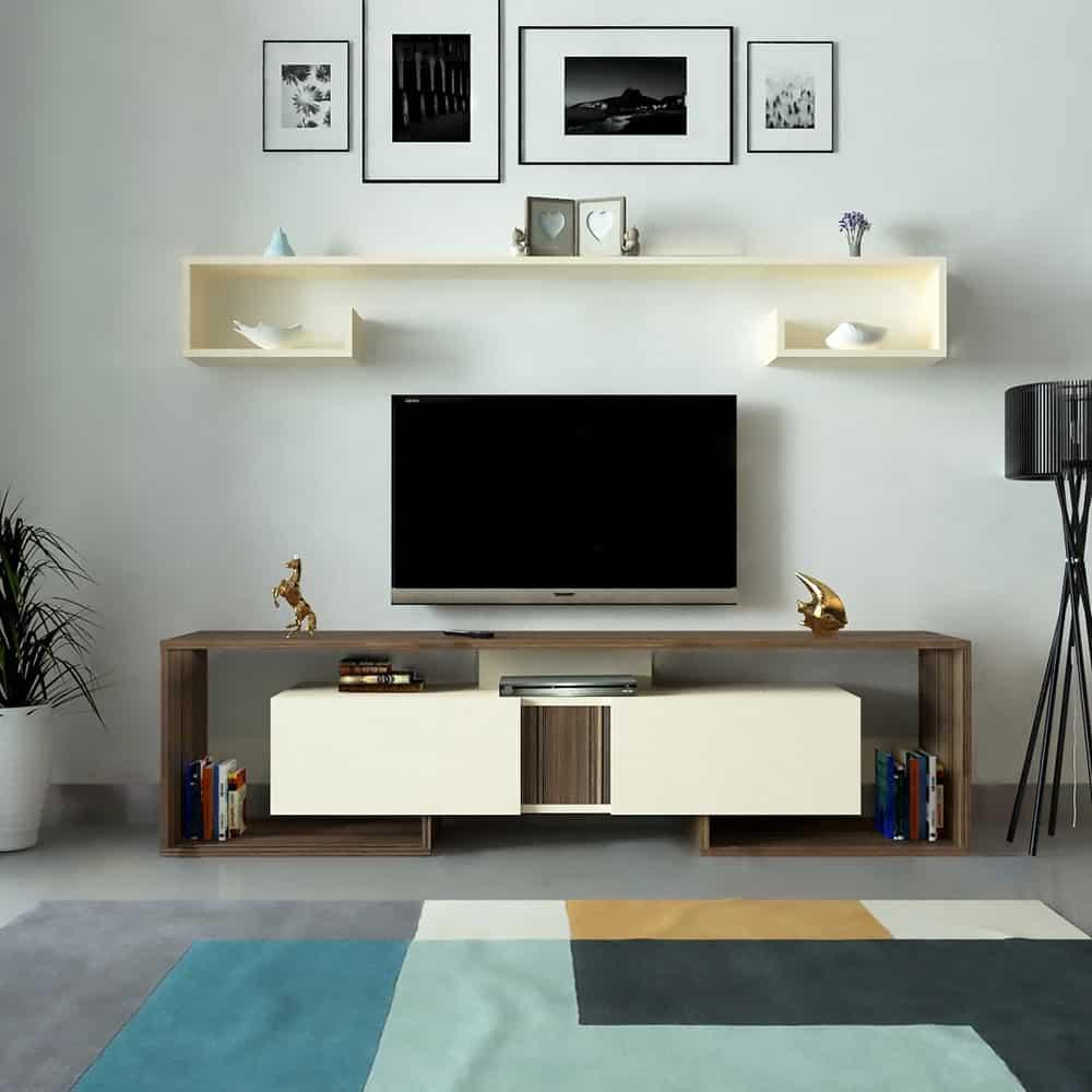 طاولة تلفاز ديزاين حديث لونين 180