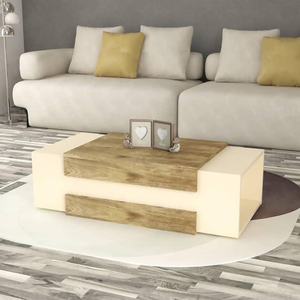 طاولة وسط لون بيج مع خشبي 435